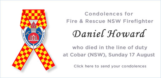 Condolences for Retained Firefighter Daniel Howard who died in the line of duty.