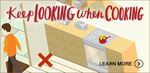 The leading cause of home fires in NSW is leaving cooking unattended. Click here to learn more.