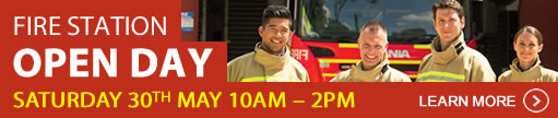 Fire Station Open Day - 30th May 2015 10am - 2pm. Click here for more information.