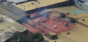 Aerial view of the fireground, Photo by Andrew Ticehurst, NSWFB Aviation Officer