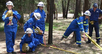 New CFU volunteers practice some new skills, Photos by Station Officer Stephen Knight