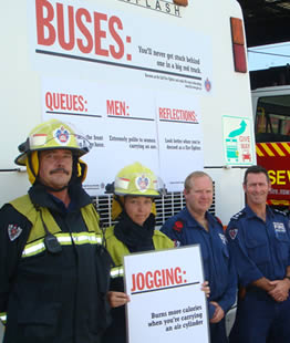 Firefighters promote the new campaign, photo by Superintendent Michael Guymer