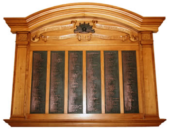 The NSWFB Roll of Honour board