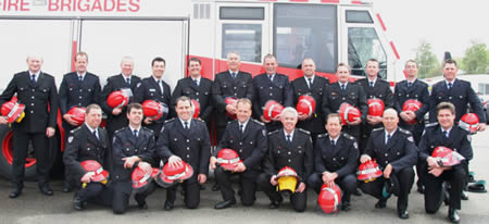 Station Officers graduation group photo