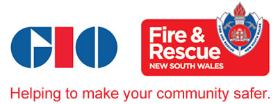 Fire and Rescue NSW, GIO. Helping to make your community safer.