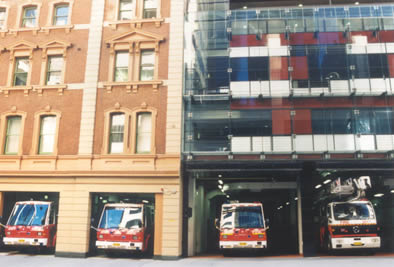 Photo of the City of Sydney fire station as we see it today.