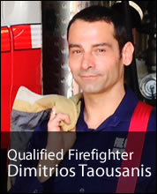 Qualified Firefighter Dimitrios Taousanis