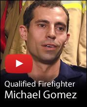 Qualified Firefighter Michael Gomez