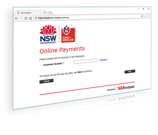 Online Payments Portal Screenshot